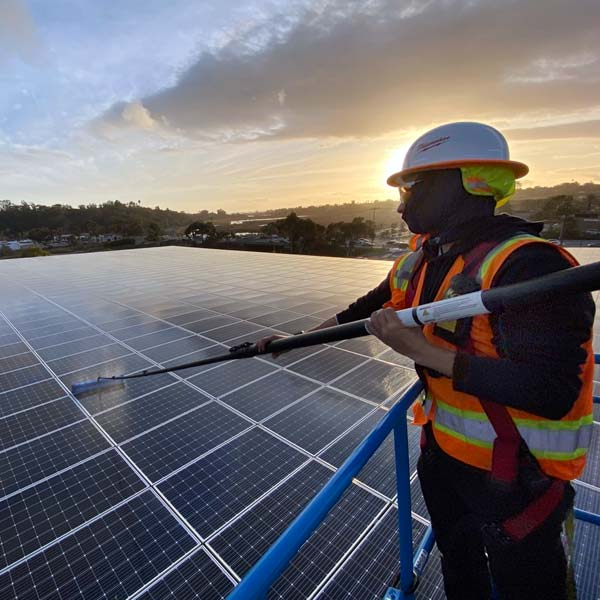 commercial solar panel cleaning san diego
